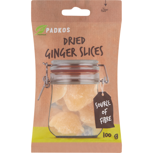 Padkos Dried Ginger Slices 100g