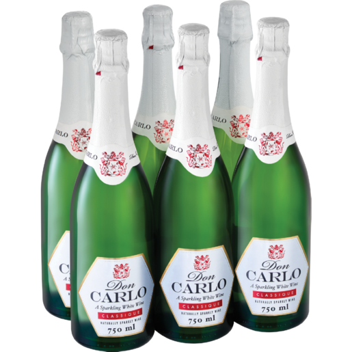 Don Carlo Sparkling White Wine Bottles 6 x 750ml
