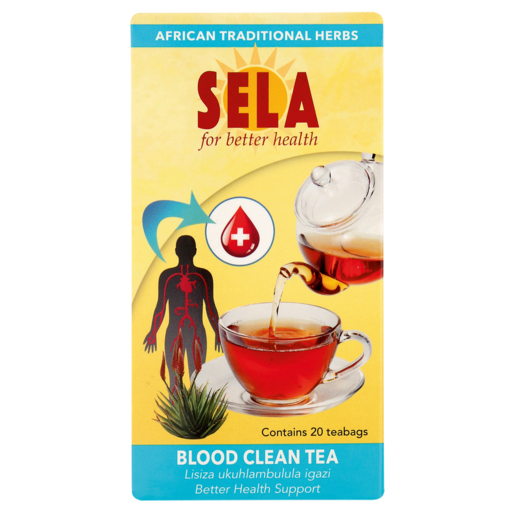 Sela Blood Clean Support Teabags 20 Pack