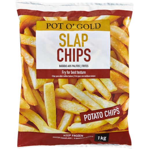 Pot O' Gold Frozen Slap Chips 1kg