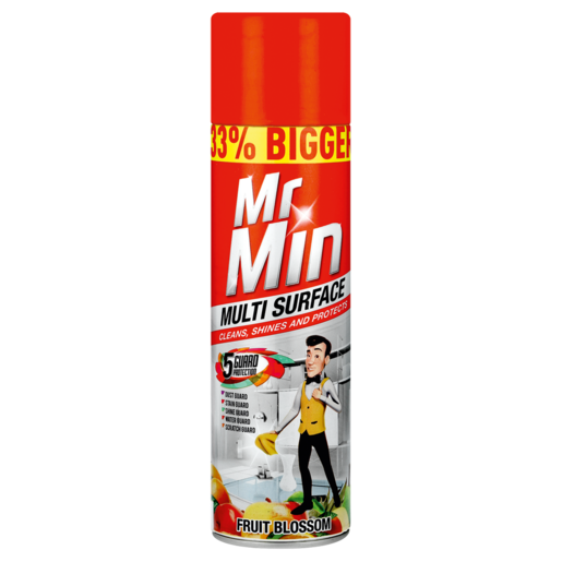 Mr. Min 5 Guard Protection Fruit Blossom Scented Multi Surface Polish 300ml