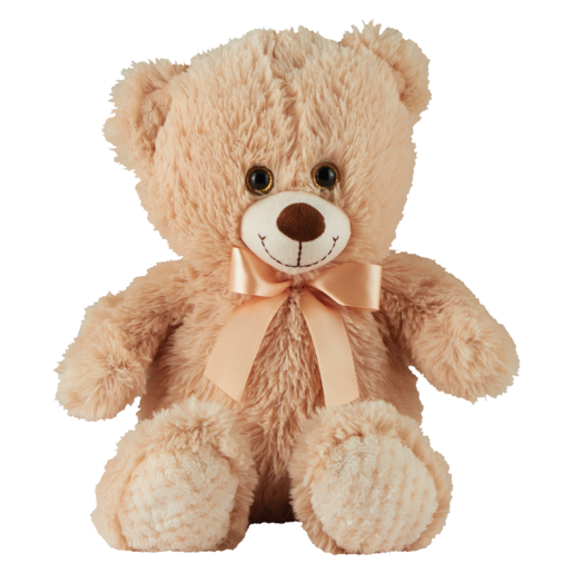 Plush Animal Bear with Organza Bow Assorted (Single) 50cm