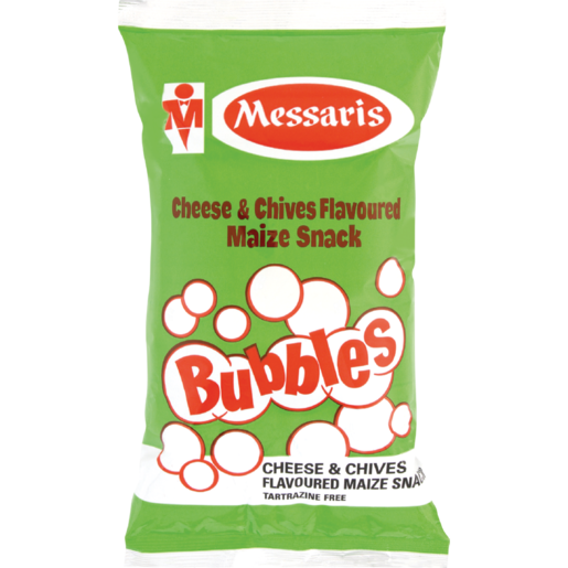 Messari's Bubbles Cheese & Chives Flavoured Maize Snack 100g