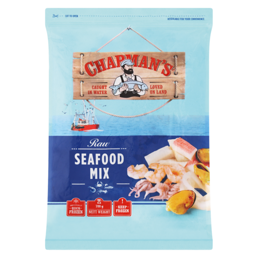 Chapman's Frozen Raw Seafood Mix 700g