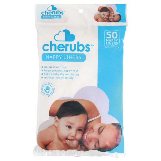 Cherubs Nappy Liners 50 Pack