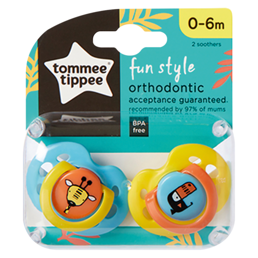 Tommee Tippee Fun Style Orthodontic Soother 2 Pack