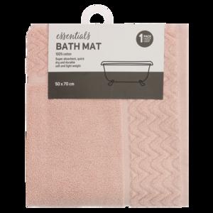 essentials pale blush bath mat 50 x 70cm   bath & toilet