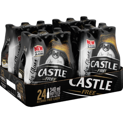 Castle Free Alcohol-Free Beer Bottles 24 x 340ml