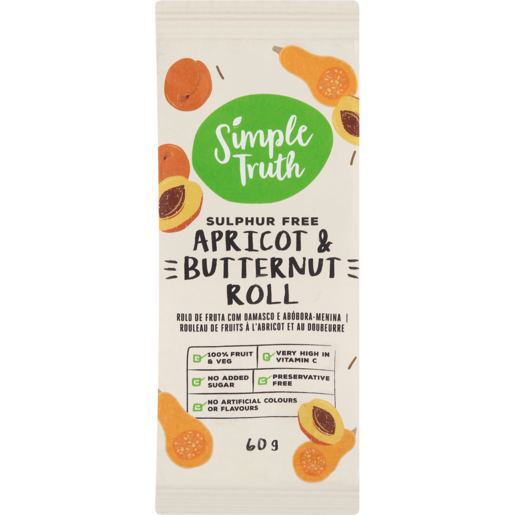 Simple Truth Apricot & Butternut Roll 60g