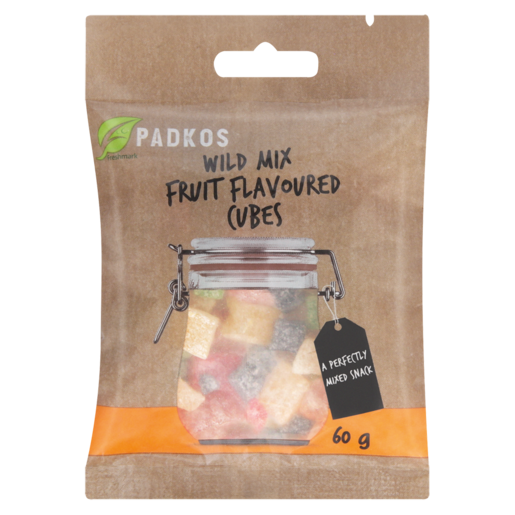 Padkos Wild Mix Fruit Flavoured Cubes 60g