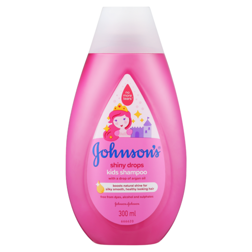 Johnson's Shiny Drops Kids Shampoo With A Drop Of Argan Oil 300ml