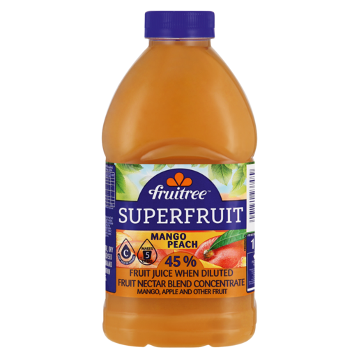 Fruitree Superfruit Mango & Peach Concentrated Nectar Blend 1L
