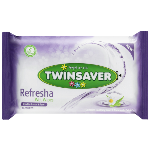 Twinsaver Refresher Wet Wipes 40 Pack