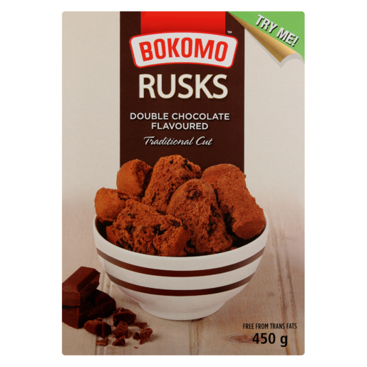 Bokomo Double Chocolate Rusks 450g