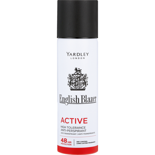 Yardley English Blazer Active Anti-Perspirant For Men Aerosol Deodorant 125ml