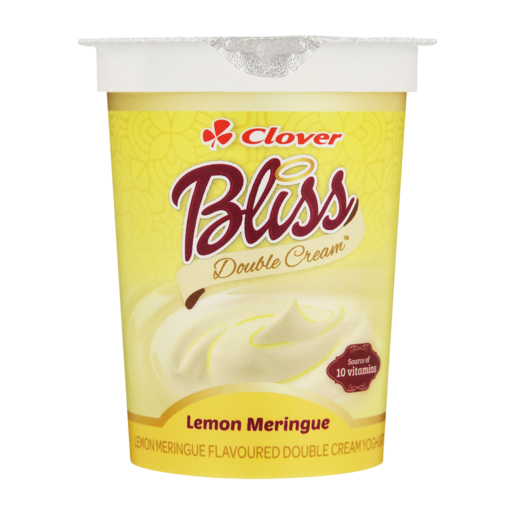 Clover Bliss Double Cream Lemon Meringue Flavoured Yoghurt Based Dairy Snack175g