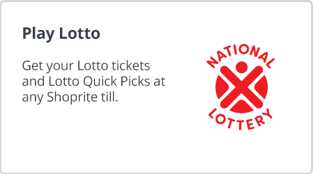 Get your lotto ticket and play your lotto numbers for the national lottery at Shoprite Money Market.