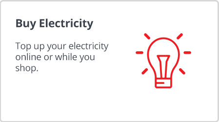 Buy electricity with Shoprite Money Markets easy-buy prepaid electricity services.